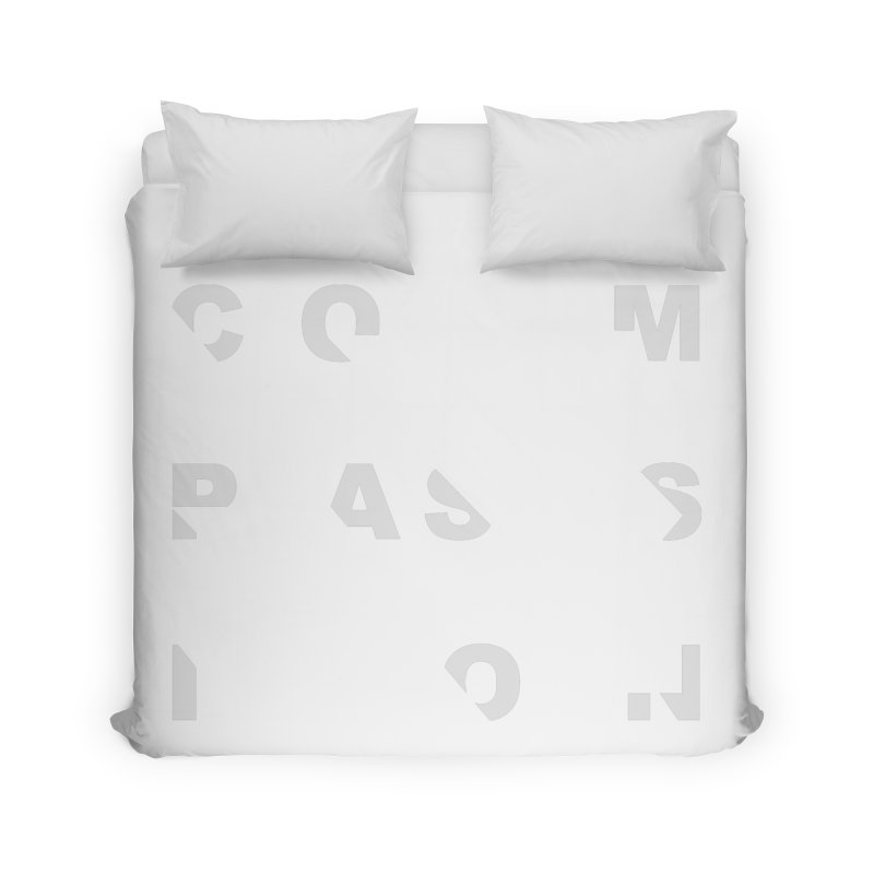 Compassion Disjointed Text Home Duvet by compassion's Artist Shop