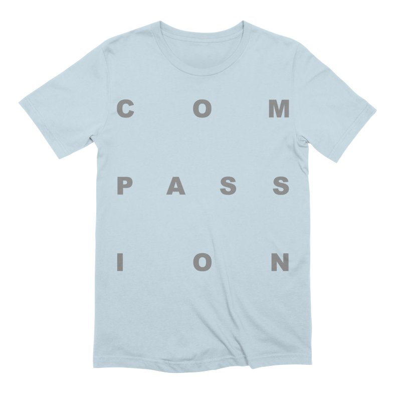 Compassion Block Text Men's Extra Soft T-Shirt by compassion's Artist Shop