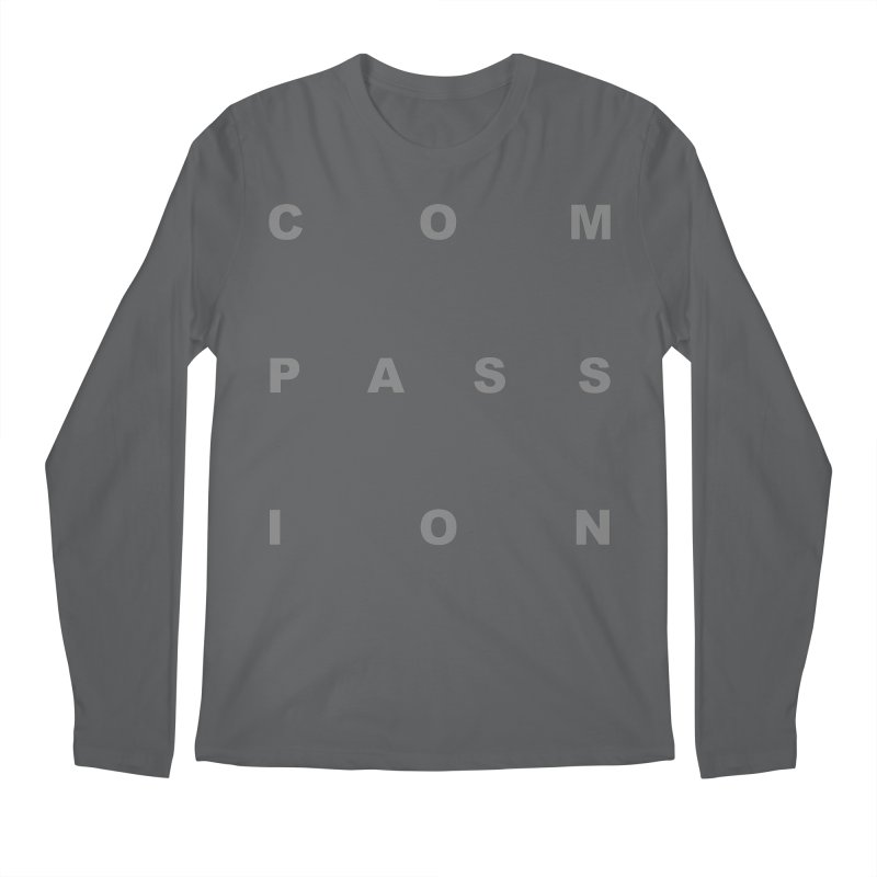 Compassion Block Text Men's Regular Longsleeve T-Shirt by compassion's Artist Shop