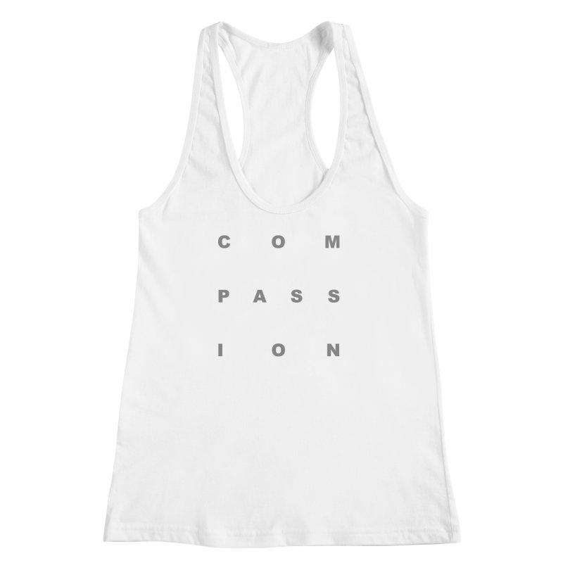 Compassion Block Text Women's Racerback Tank by compassion's Artist Shop