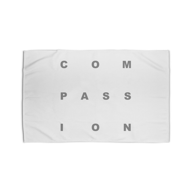 Compassion Block Text Home Rug by compassion's Artist Shop