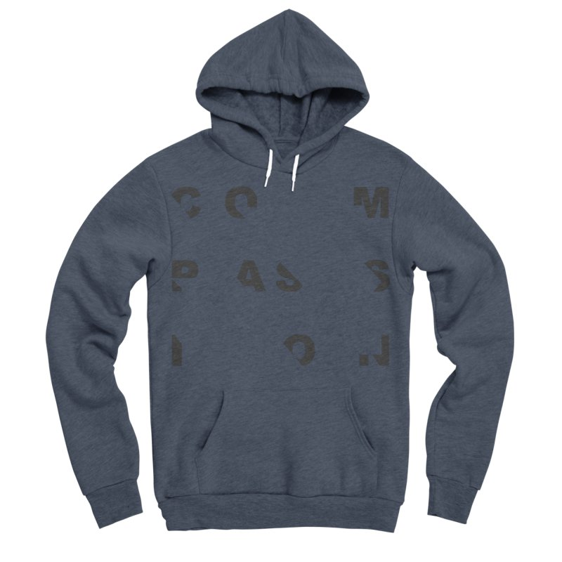 Compassion Disjointed Text - Charcoal Women's Sponge Fleece Pullover Hoody by compassion's Artist Shop