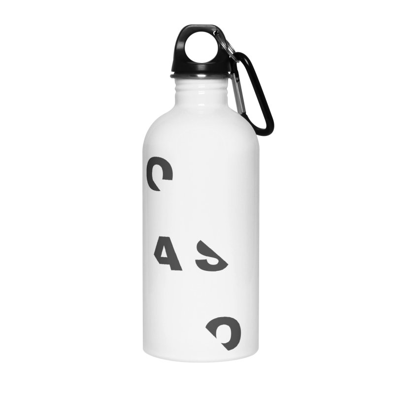 Compassion Disjointed Text - Charcoal Accessories Water Bottle by compassion's Artist Shop