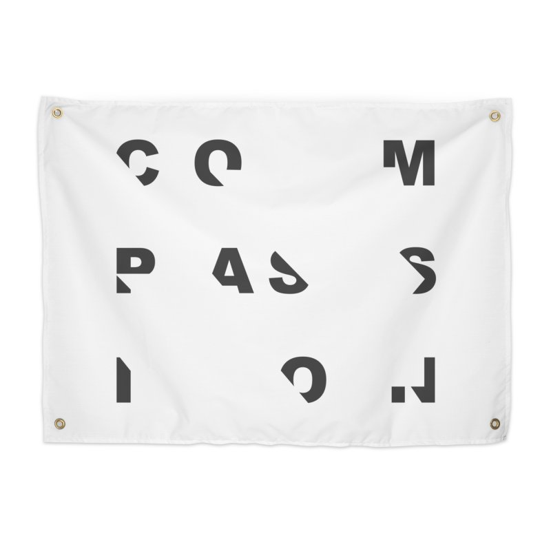 Compassion Disjointed Text - Charcoal Home Tapestry by compassion's Artist Shop