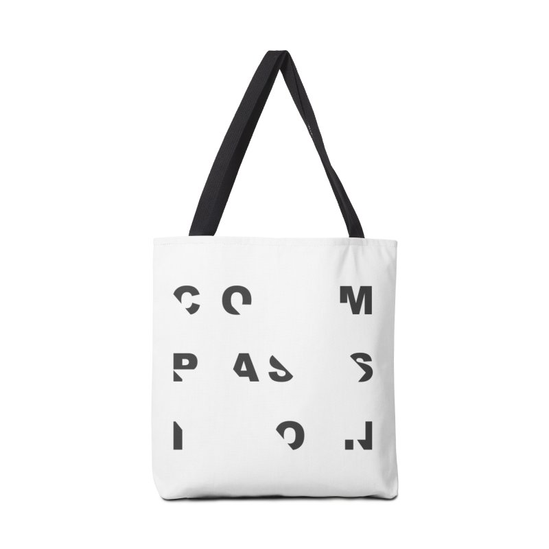 Compassion Disjointed Text - Charcoal Accessories Tote Bag Bag by compassion's Artist Shop