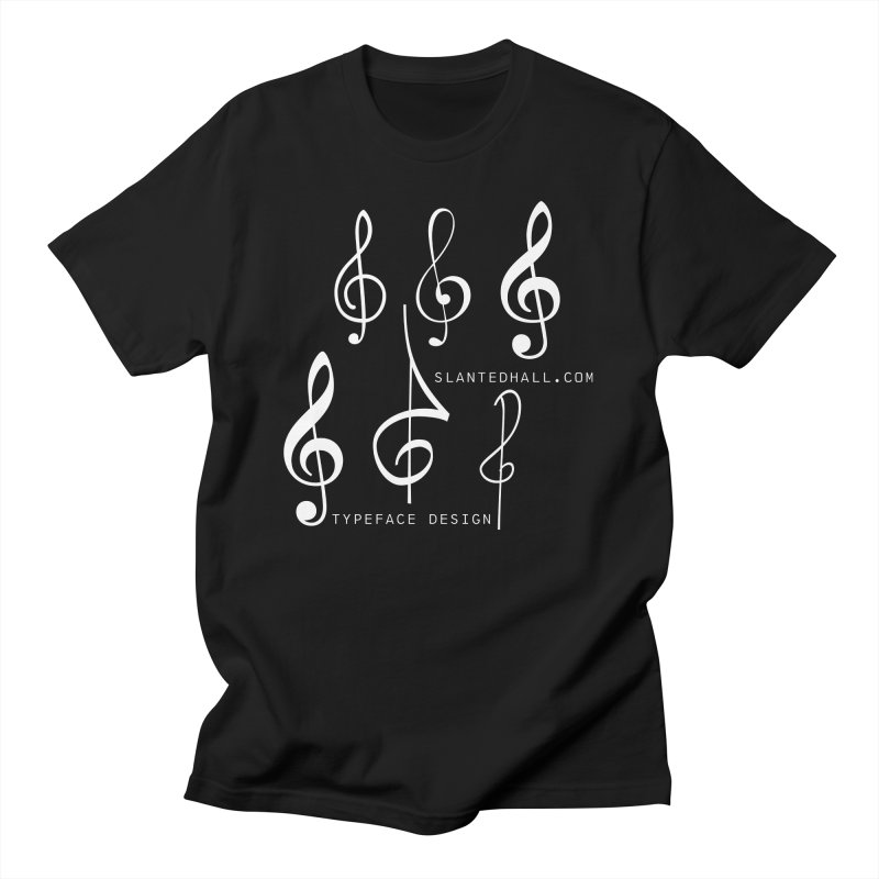 Treble Clefs Men's T-Shirt by Slanted Hall Typefaces and Music Notation Fonts