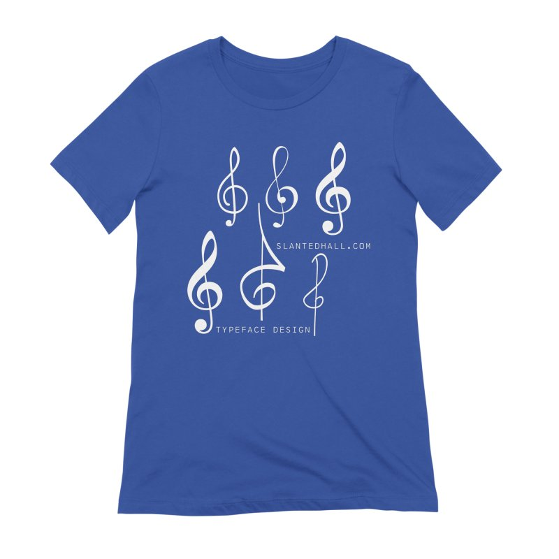 Treble Clefs Women's T-Shirt by Slanted Hall Typefaces and Music Notation Fonts