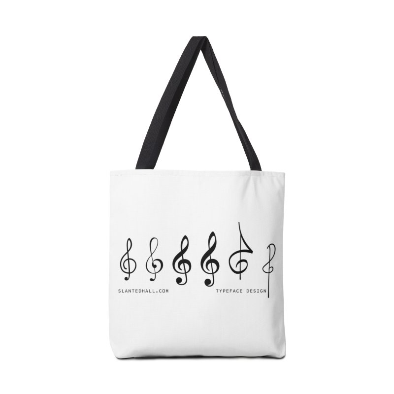 Treble Clefs Accessories Bag by Slanted Hall Typefaces and Music Notation Fonts