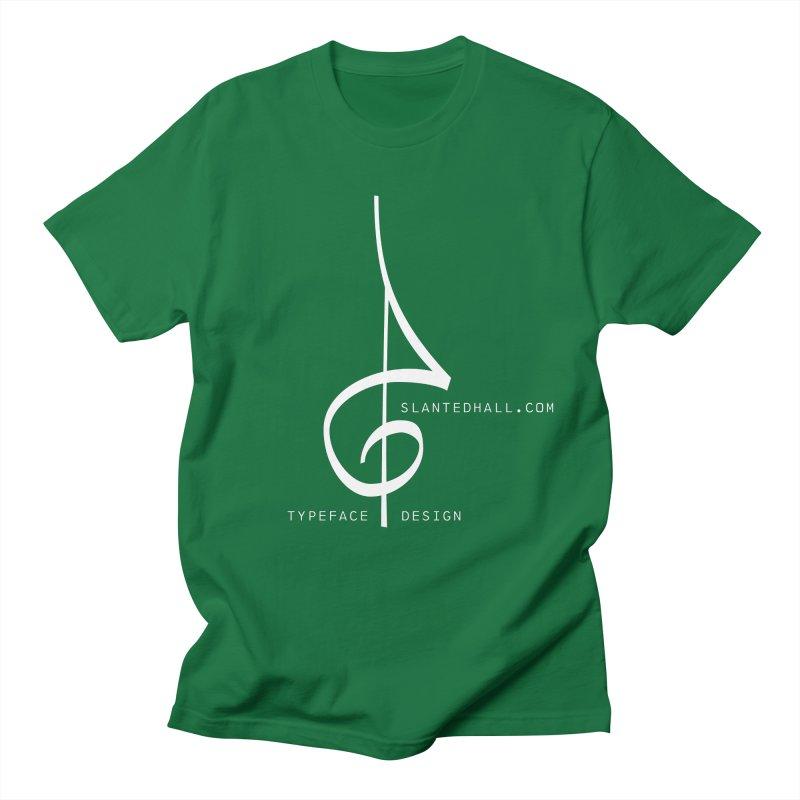 1930s Treble Clef + Slanted Hall Typeface Design Men's T-Shirt by Slanted Hall Typefaces and Music Notation Fonts