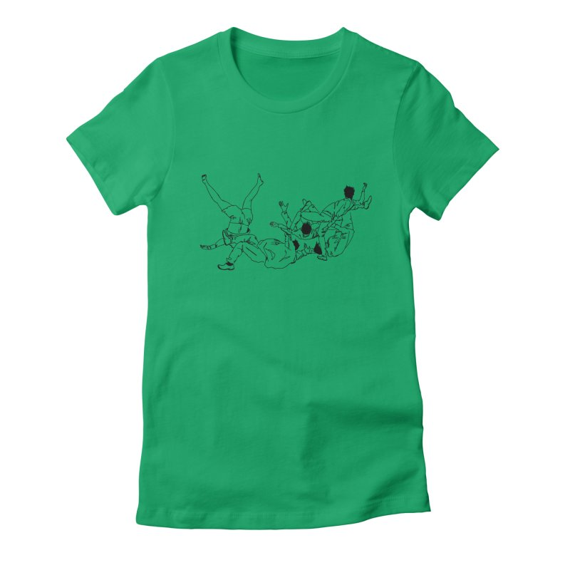 Five Paupers Women's Fitted T-Shirt by compostpile's Artist Shop