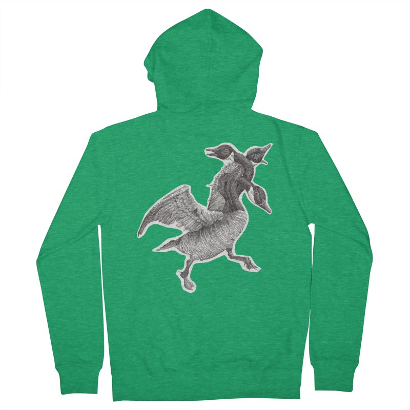 Knotted Gander (Apparel)  Men's Zip-Up Hoody by compostpile's Artist Shop