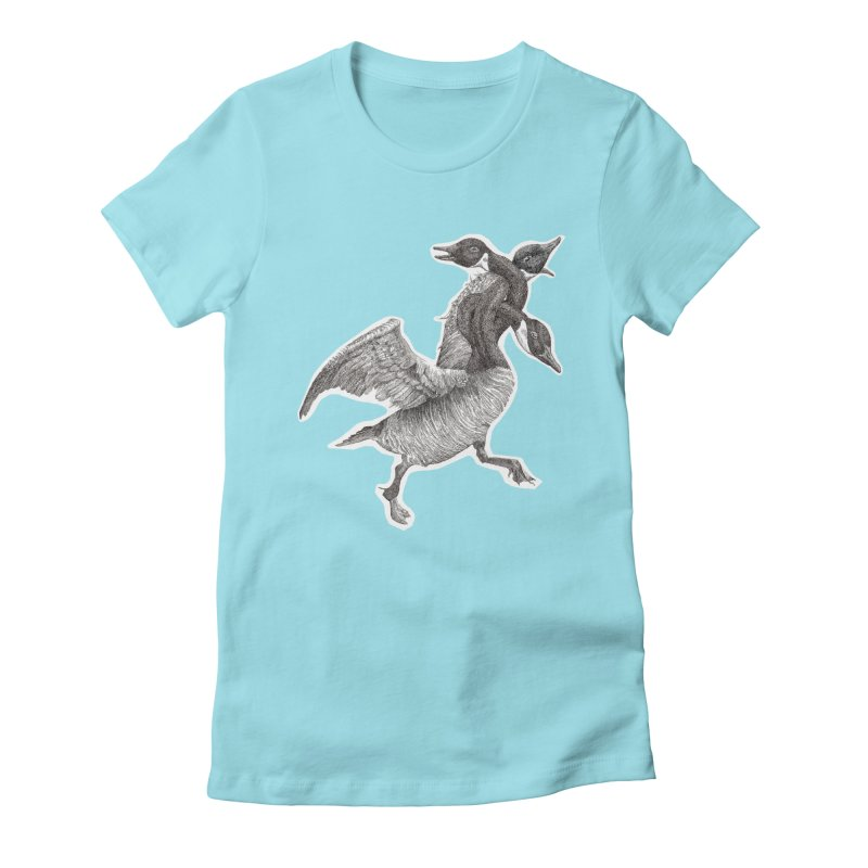 Knotted Gander (Apparel)  Women's Fitted T-Shirt by compostpile's Artist Shop