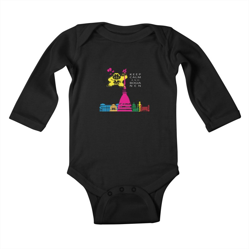 Keep Calm and Bogia Nen Kids Baby Longsleeve Bodysuit by Lospaccio Conamole