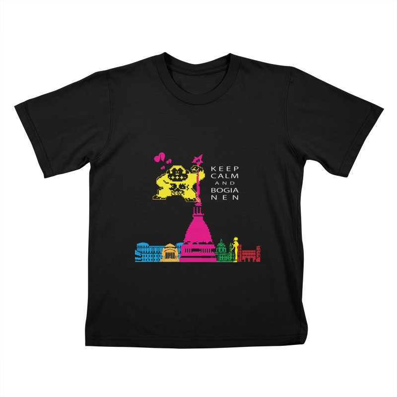 Keep Calm and Bogia Nen Kids T-Shirt by Lospaccio Conamole