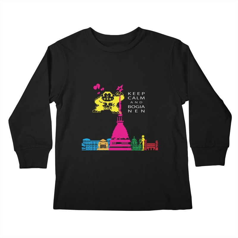 Keep Calm and Bogia Nen Kids Longsleeve T-Shirt by Lospaccio Conamole