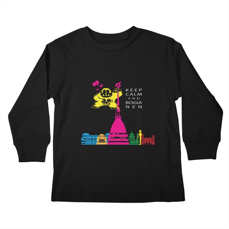 Keep Calm and Bogia Nen Kids Longsleeve T-Shirt by Lospaccio Conamole