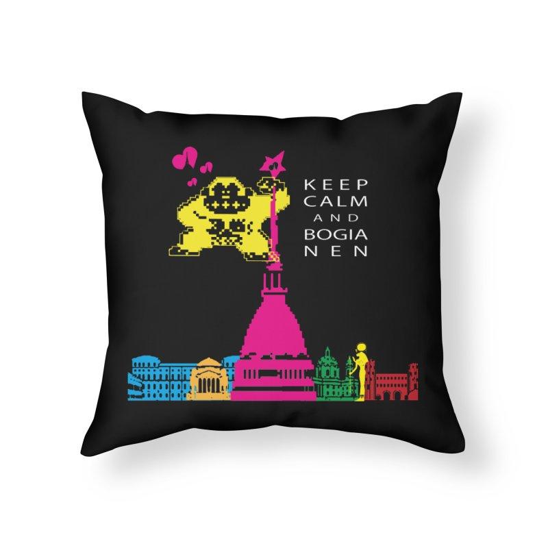 Keep Calm and Bogia Nen Home Throw Pillow by Lospaccio Conamole
