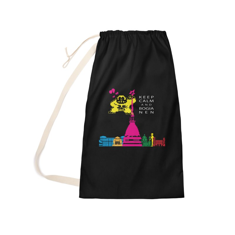 Keep Calm and Bogia Nen Accessories Laundry Bag Bag by Lospaccio Conamole