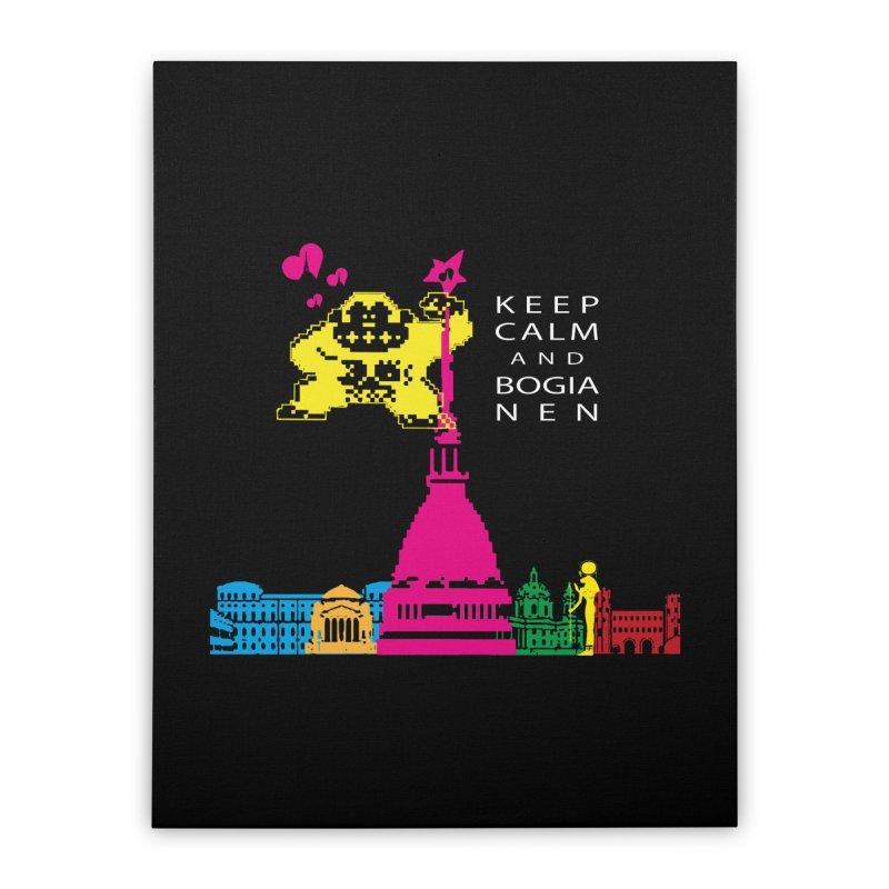 Keep Calm and Bogia Nen Home Stretched Canvas by Lospaccio Conamole
