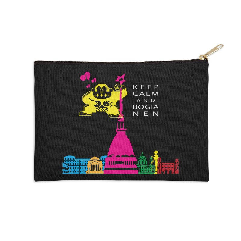 Keep Calm and Bogia Nen Accessories Zip Pouch by Lospaccio Conamole