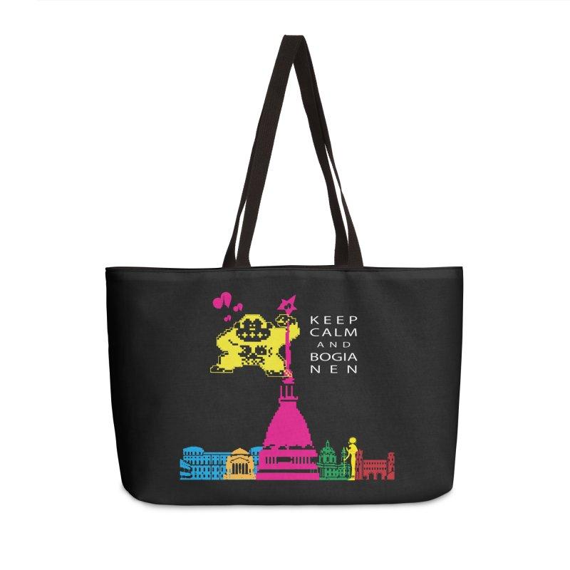 Keep Calm and Bogia Nen Accessories Weekender Bag Bag by Lospaccio Conamole