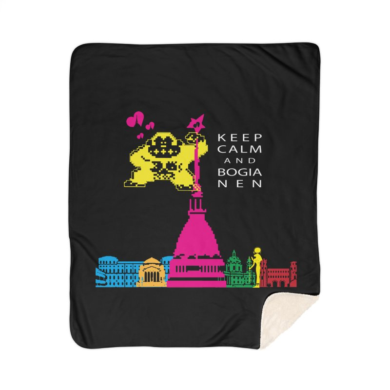 Keep Calm and Bogia Nen Home Sherpa Blanket Blanket by Lospaccio Conamole