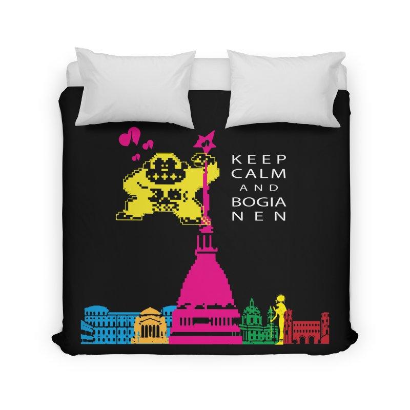 Keep Calm and Bogia Nen Home Duvet by Lospaccio Conamole