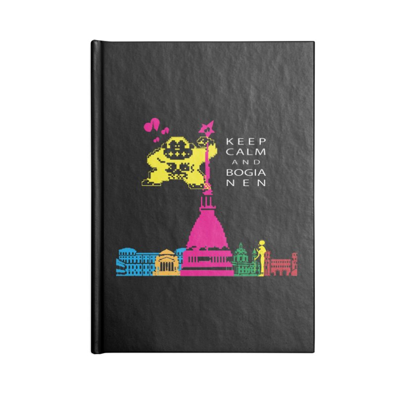 Keep Calm and Bogia Nen Accessories Lined Journal Notebook by Lospaccio Conamole