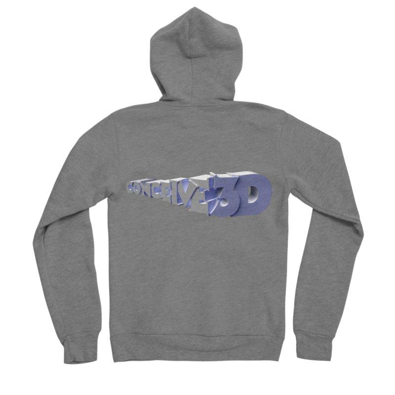 Conceive3D Men's Sponge Fleece Zip-Up Hoody by Conceive3D
