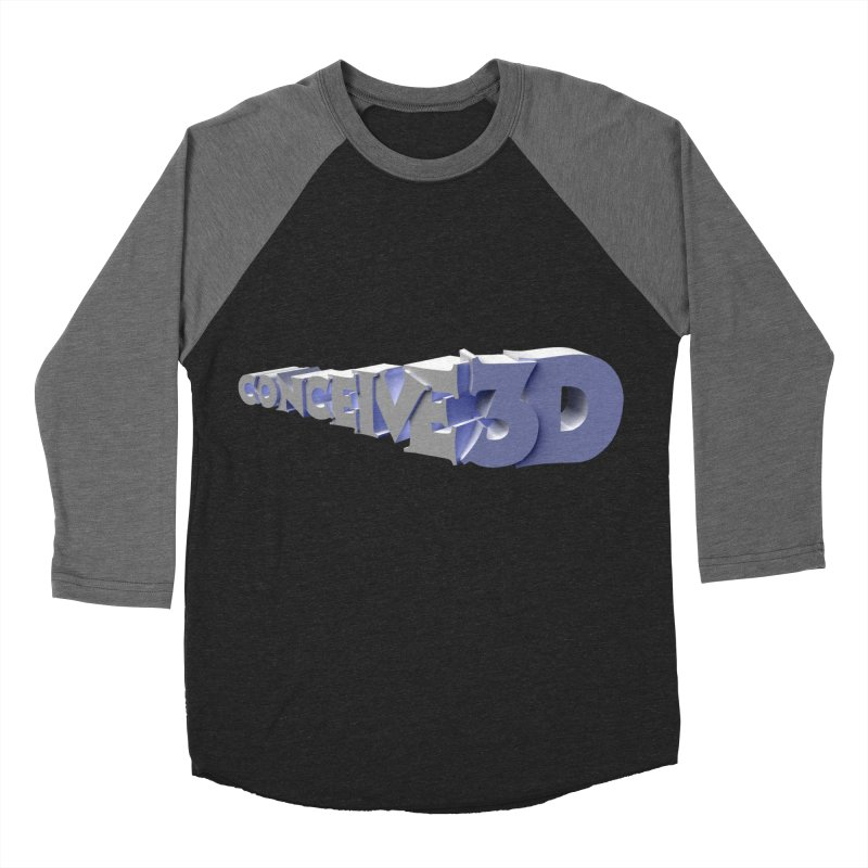 Conceive3D Men's Baseball Triblend Longsleeve T-Shirt by Conceive3D