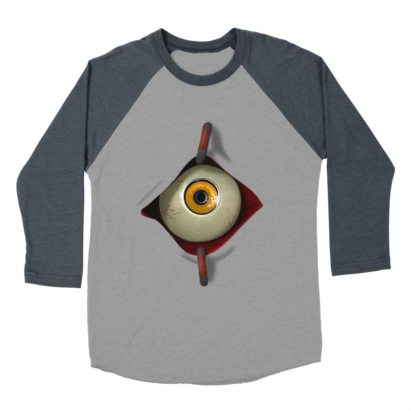 Eye See You Men's Baseball Triblend Longsleeve T-Shirt by Conceive3D