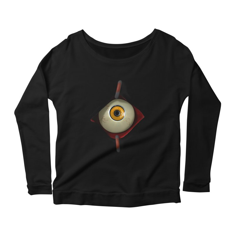 Eye See You Women's Scoop Neck Longsleeve T-Shirt by Conceive3D