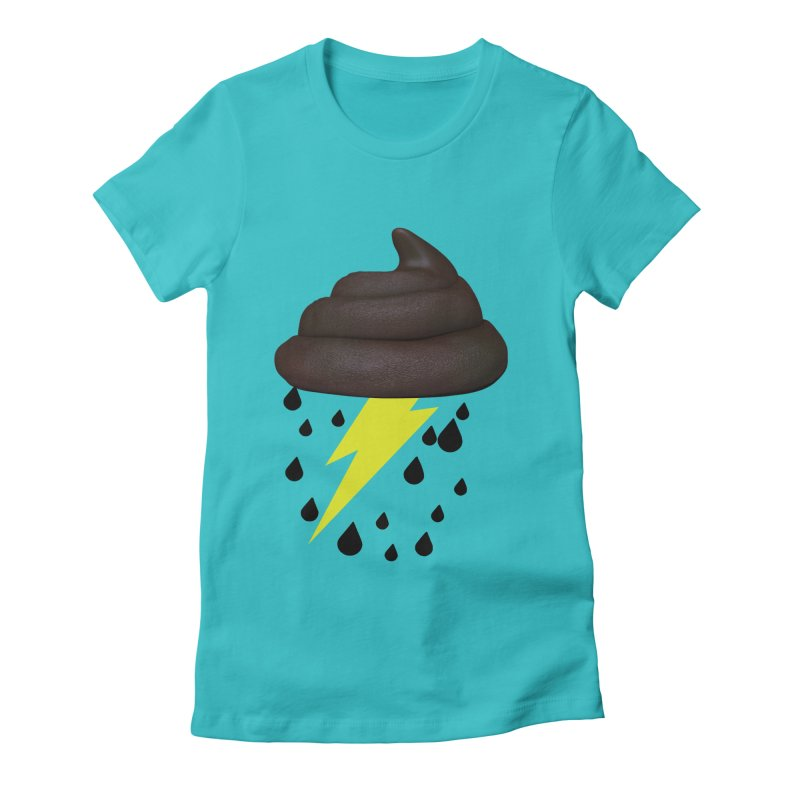 Shit Storm Women's Fitted T-Shirt by Conceive3D