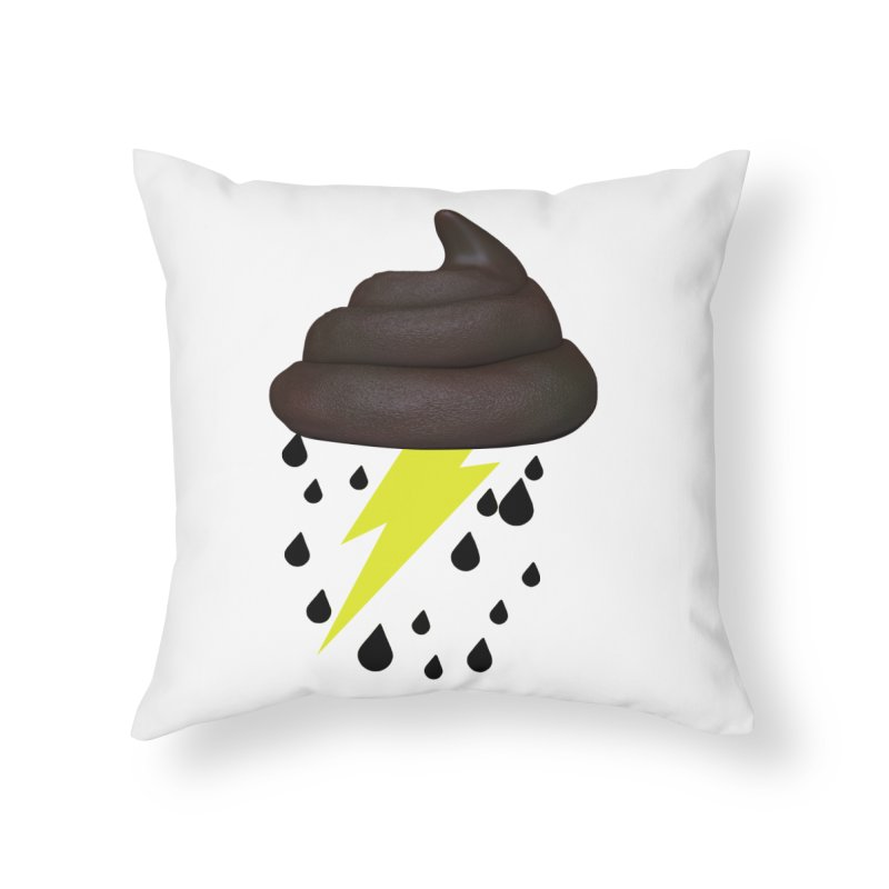 Shit Storm Home Throw Pillow by Conceive3D