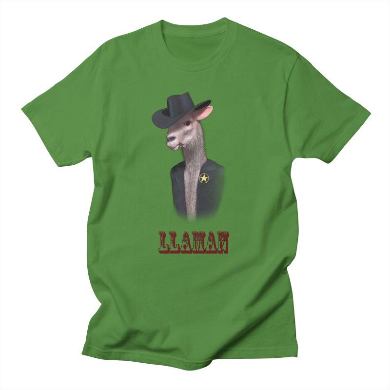 LLAMAN Men's Regular T-Shirt by Conceive3D