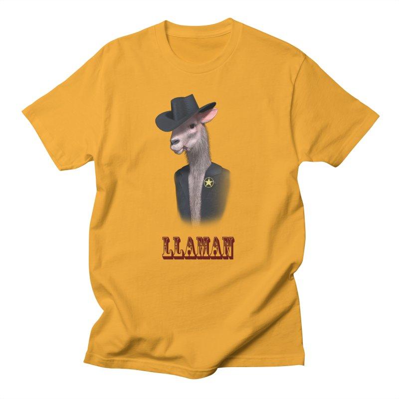 LLAMAN Women's Regular Unisex T-Shirt by Conceive3D