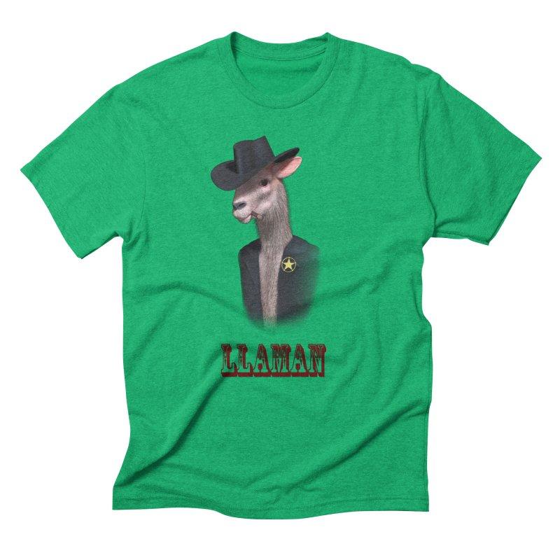 LLAMAN Men's Triblend T-Shirt by Conceive3D