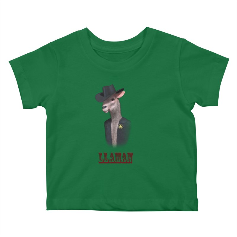 LLAMAN Kids Baby T-Shirt by Conceive3D