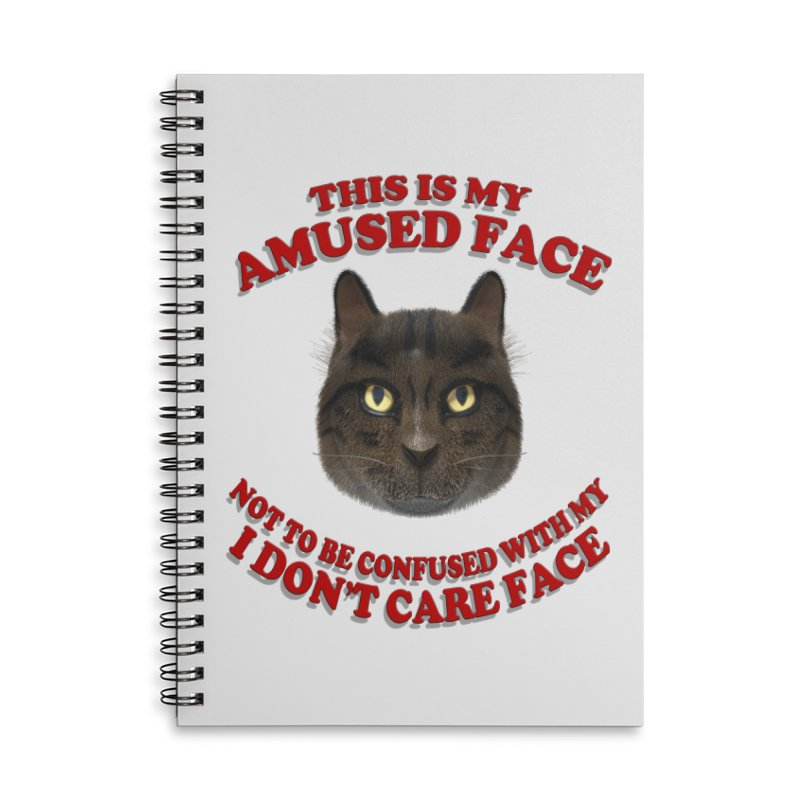 Amused Accessories Lined Spiral Notebook by Conceive3D