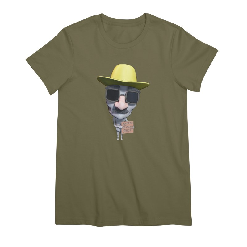 Area 51 or Bust Women's Premium T-Shirt by Conceive3D