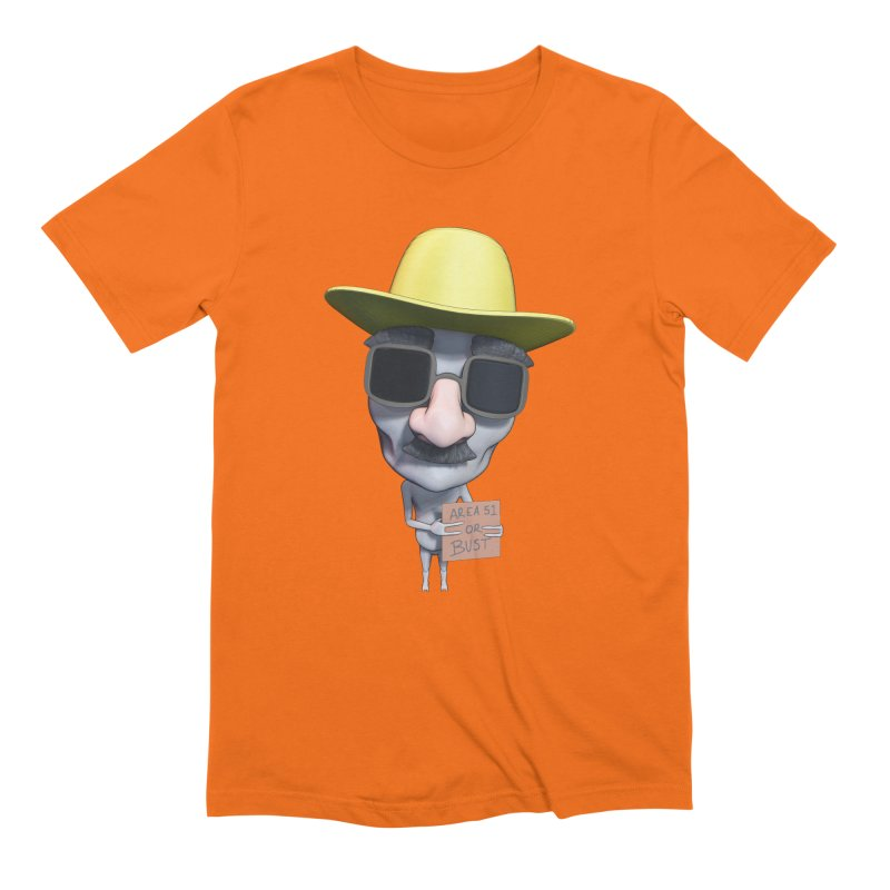 Area 51 or Bust Men's Extra Soft T-Shirt by Conceive3D