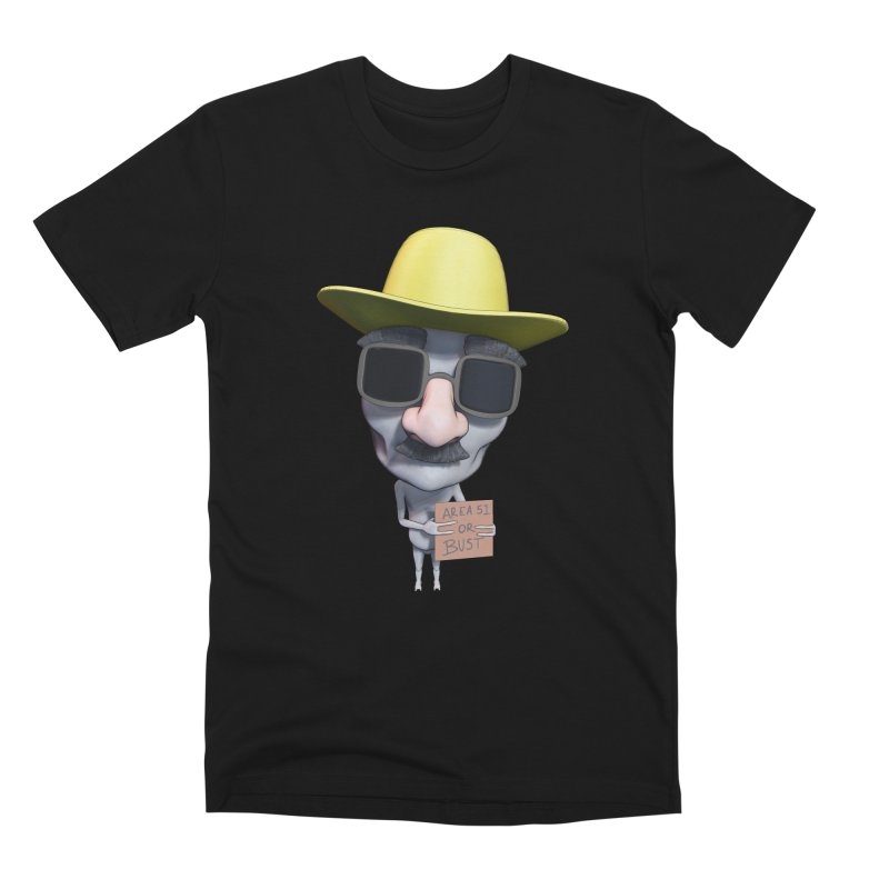 Area 51 or Bust Men's Premium T-Shirt by Conceive3D