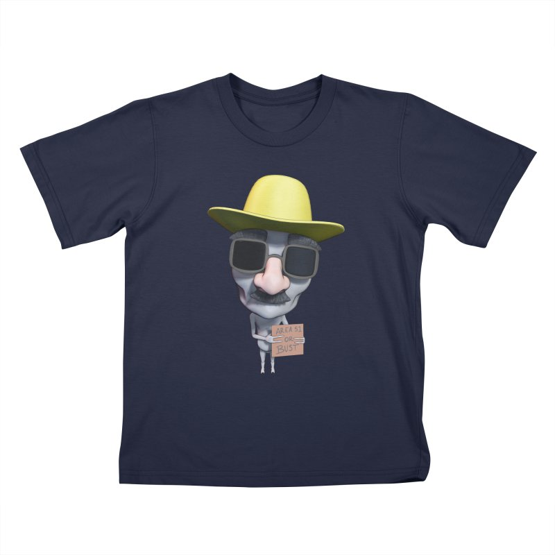 Area 51 or Bust Kids T-Shirt by Conceive3D