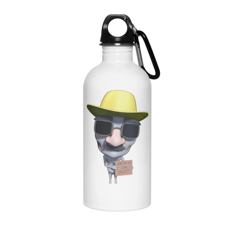 Area 51 or Bust Accessories Water Bottle by Conceive3D