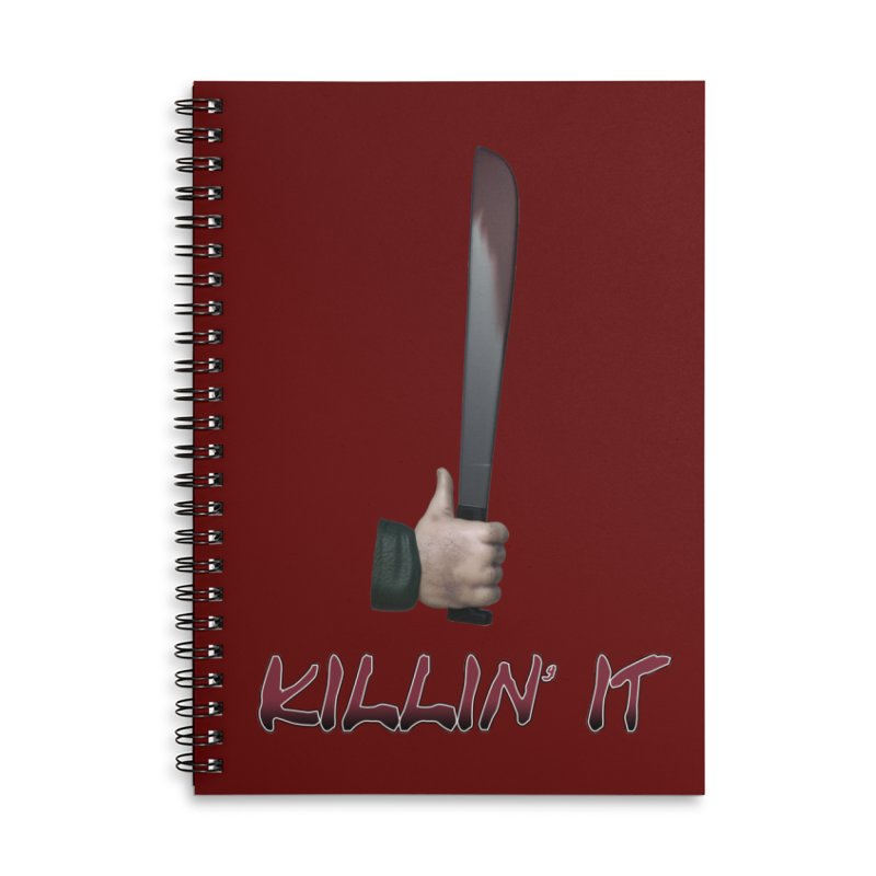 Killin' It Accessories Lined Spiral Notebook by Conceive3D