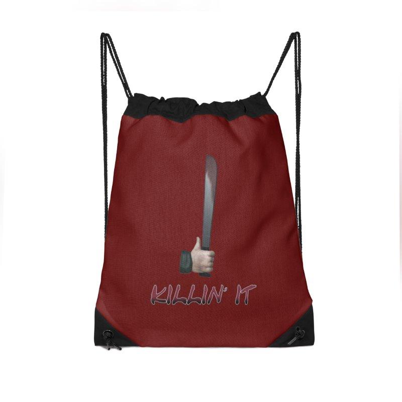 Killin' It Accessories Drawstring Bag Bag by Conceive3D