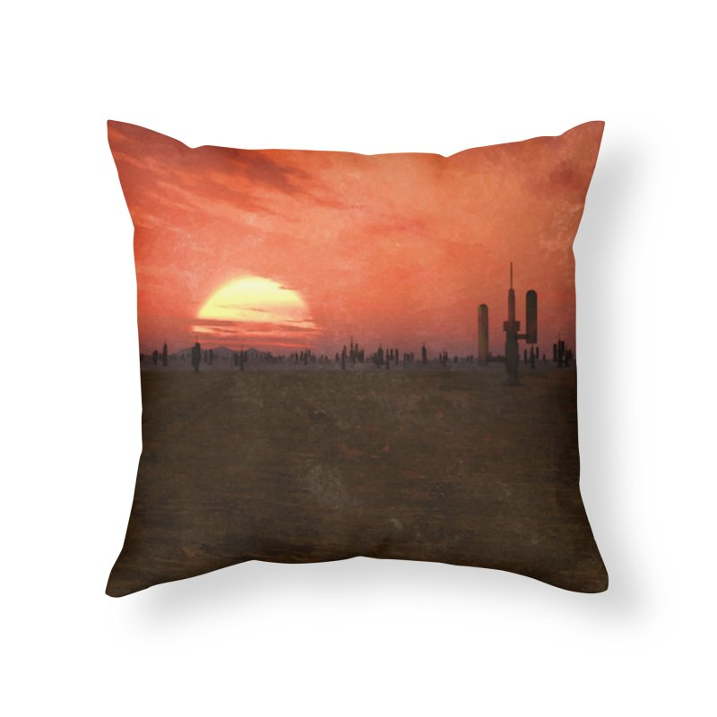 Space Desert Home Throw Pillow by Conceive3D