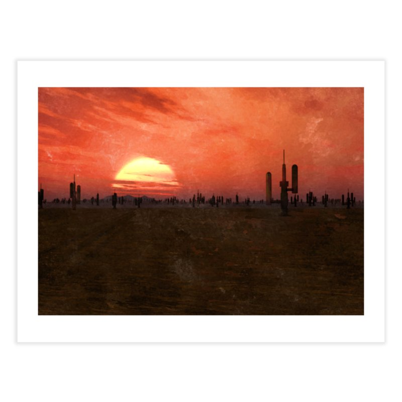 Space Desert Home Fine Art Print by Conceive3D