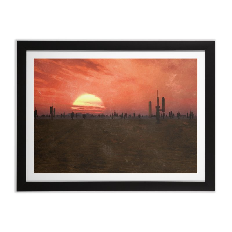 Space Desert Home Framed Fine Art Print by Conceive3D