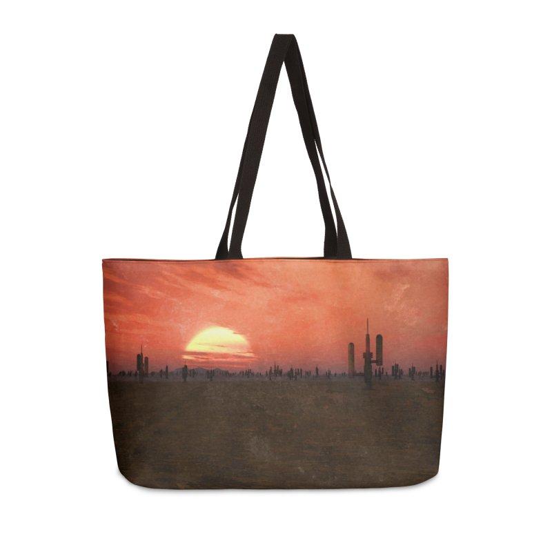 Space Desert Accessories Weekender Bag Bag by Conceive3D
